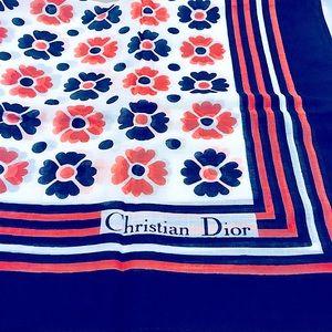 🧡Rare*Designer•ChristianDior Dainty Floral Scarf
